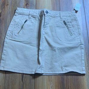 NWT GAP Khaki Pencil Mini Skirt Cotton Sz 2